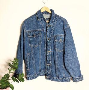Vintage 90s Gap Floral Embroidered Denim Jacket